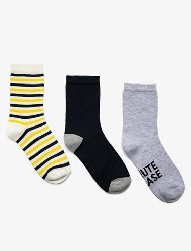 Koton 3'lü Kadin Çorap Gri